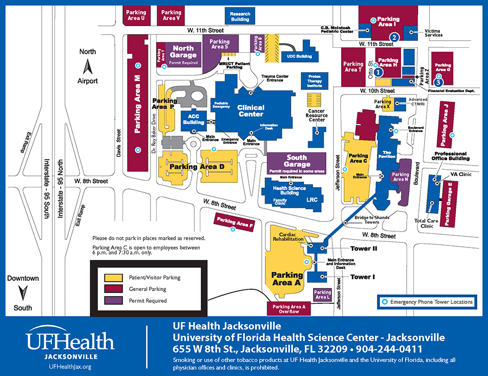 Parking College Of Medicine Jacksonville University Of Florida